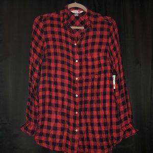 Red/Black Buffalo Check Flannel